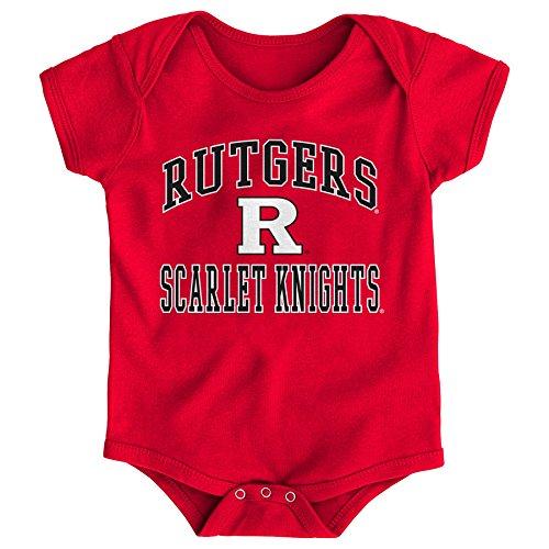 (Gen 2 NCAA Rutgers Scarlet Knights Newborn & Infant Primary Logo Bodysuit, 12 Months, Red)