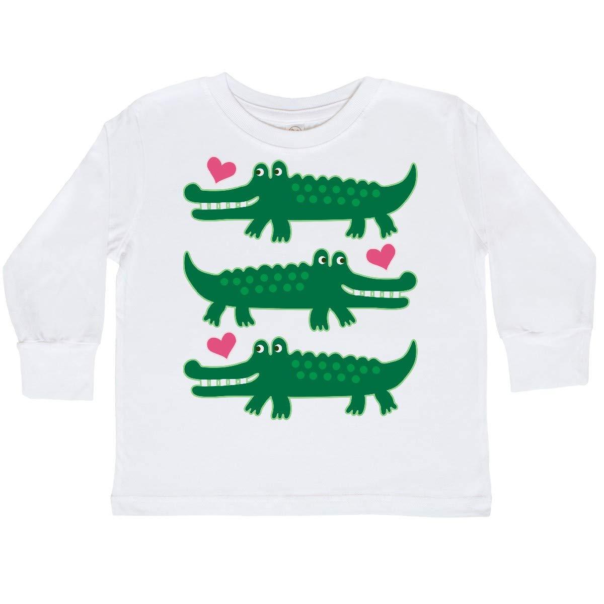 Alligator Crocodile Reptile Toddler Long Sleeve T-Shirt 2e1b8 inktastic