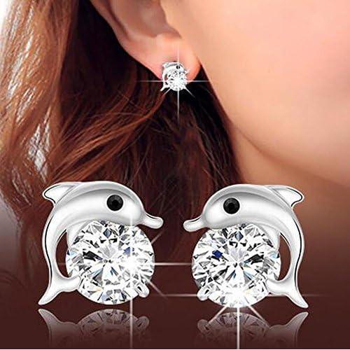 Kanggest 1 Par Mujer Pendientes Moda Ni/ña Brillar Cristal Aretes Pendientes para Mujeres Joyer/ía Accesorios