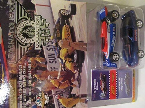 Johnny Lightning Indianapolis 500 Champions Series 4: 1978 Al Unser & 1978 Pace Car Chevy (1978 Corvette Pace Car)