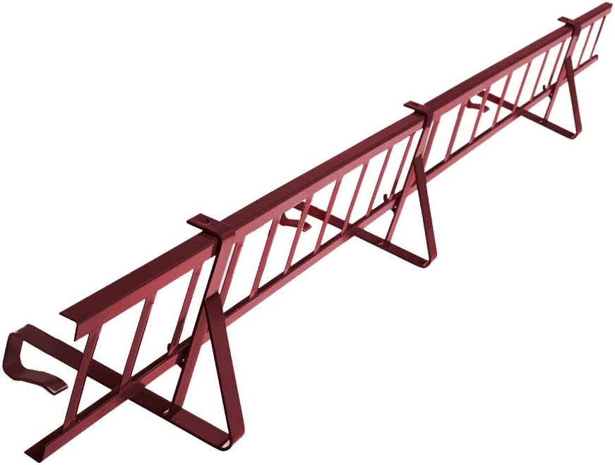 Komplettes Schneefanggitter Set 1,5 m Lang mit 2 Halterungen f/ür Dachsteine und Dachziegel zum Einh/ängen auf der Lattung Gitterh/öhe 15 cm, RAL 8004 Ziegelrot