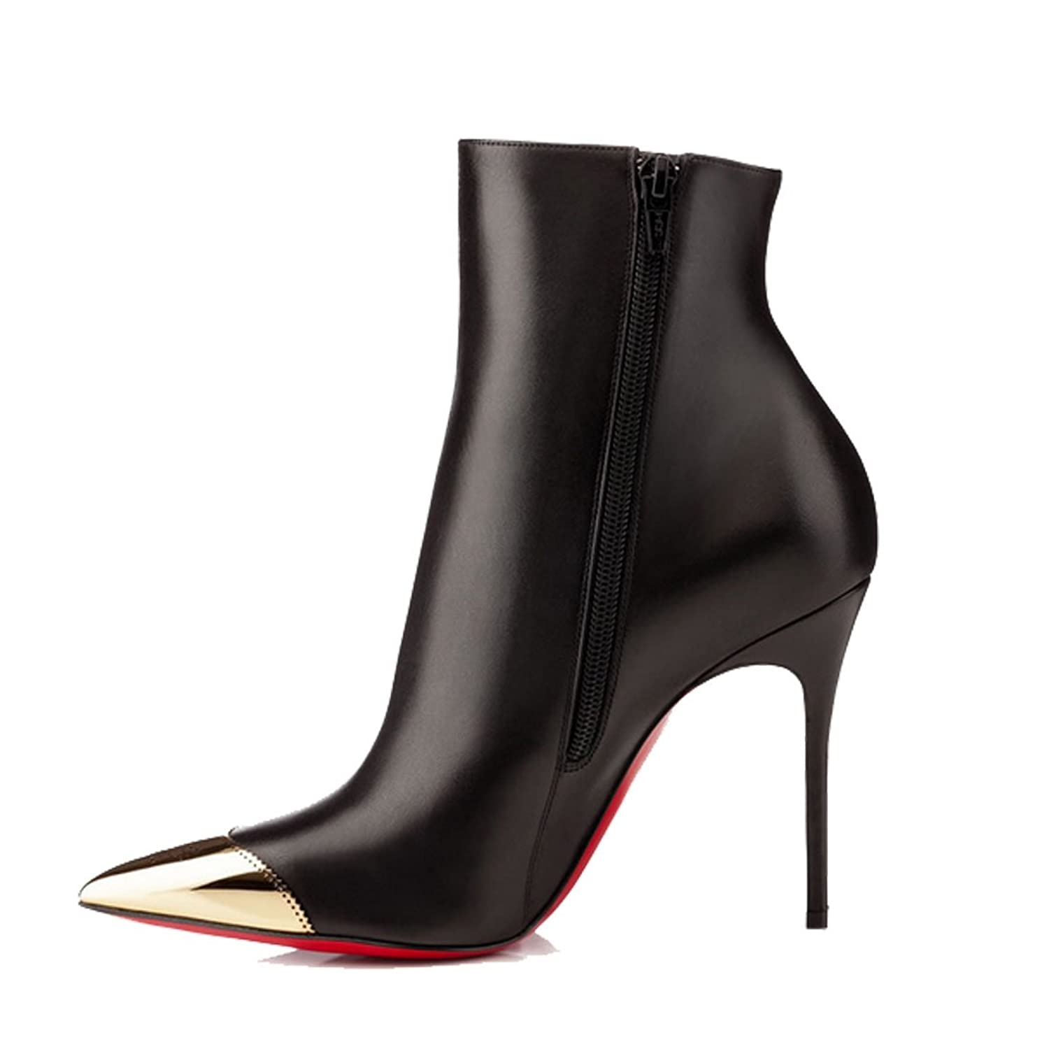 San Hojas Leather Ankle Boots Black
