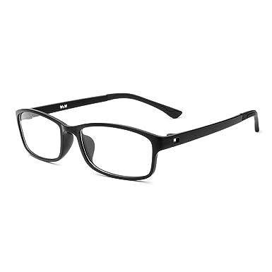 Forepin Nerdbrille Brillenfassungen reg; Classic Unisex Brillengestelle Dekogläser Damen Herren, Schwarz & Weiß