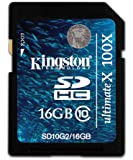 Kingston Digital 16 GB Class 10 Flash Memory Card SD10G2/16GB