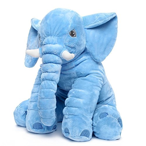 Rainbow Fox Grey Elephant Stuffed Animals Plush Toy Animals Toys (Blue)