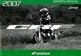 31GEL670 2007 Honda CRF50F Motorcycle Owners Manual