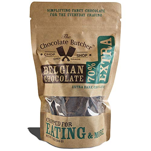 Semi Sweet Dark Chocolate - Extra Dark Chocolate 70% Cocoa Content — Chopped for Snacking or Melting …