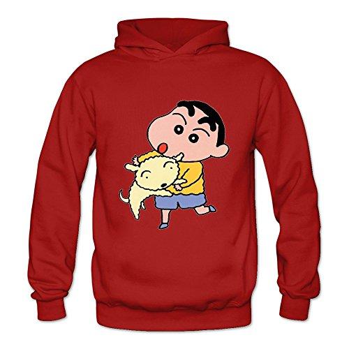 Price comparison product image Buluew Women's Anime Crayon Shin Chan Hoodies Sweatshirt Size S US Red