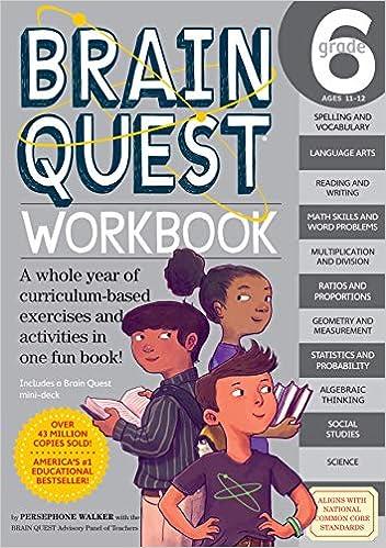 Brain Quest Workbook Grade 6 Persephone Walker Nick