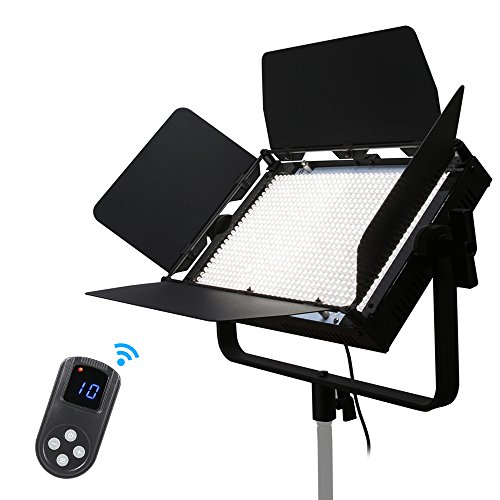 Andoer 1040pcs LED Light Video Panel Light Lamp CRI 95+ 7680LM 5600K with2.4G Remote Control/DMX 512/Barndoors,/Diffusion Filter,64W Adjustable Brightness for Photo Studio Video Film Photography by Andoer