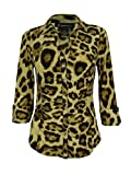INC International Concepts Women's Animal Print Shirt (XS, Fancy Leopard)