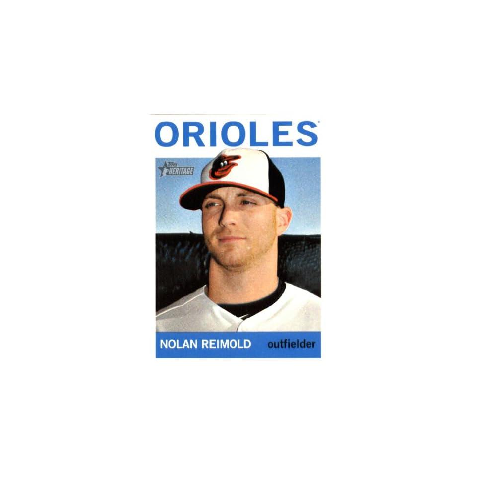 2013 Topps Heritage Baseball Card IN SCREWDOWN CASE #336 Nolan Reimold ENCASED