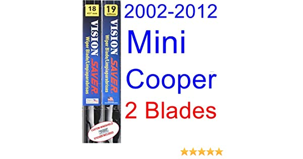 Amazon.com: 2002-2012 Mini Cooper Replacement Wiper Blade Set/Kit (Set of 2 Blades) (Saver Automotive Products-Vision Saver) (2003,2004,2005,2006,2007,2008 ...