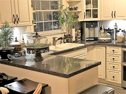 EZ FAUX DECOR Grey Soapstone Marble Look Peel and Stick Countertop Backsplash NO Paint Why? When You can Premium Peel and Stick 144'' x 36'' by EZ FAUX DECOR (Image #9)