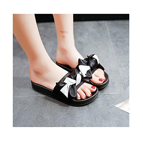 Sandales femmes papillon plate SOIXANTE antidérapage Blanc décoration semelle confortable wvHUxqd