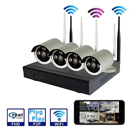 SMONET 4CH 720P Wireless Home Surveillance Security Camera System