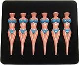 Set of 6pcs Novelty Bikini Lady Girl Golf Tees Divot Tools Joke Stag Party Funny Blueot Tools Tees