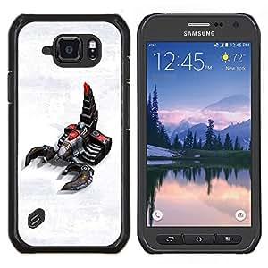 EJOOY---Cubierta de la caja de protección para la piel dura ** Samsung Galaxy S6Active Active G890A ** --Escorpión Robot