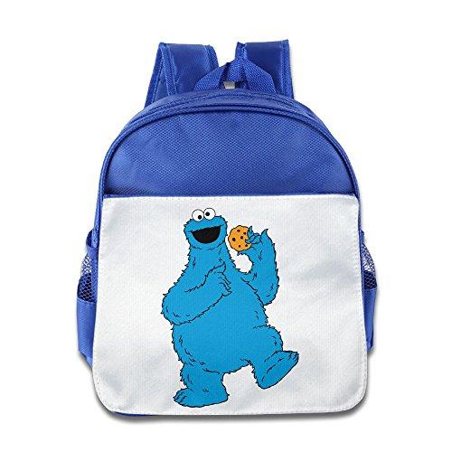 Jimmy Fallon Kids Costumes (XJBD Custom Cute Sesame Street Teenager School Bagpack Bag For 1-6 Years Old RoyalBlue)
