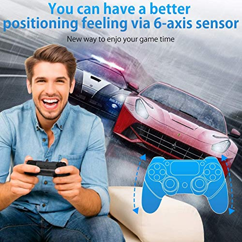 PS4 Controller Sades Wireless Controller for Playstation 4 with Dual Vibration, Include USB Cable