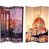 Oriental Furniture 6 ft. Tall Double Sided Rome/Firenze Room Divider