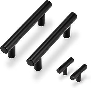 Probrico 15 Pack  Flat Black Single Hole Cabinet Knobs 2