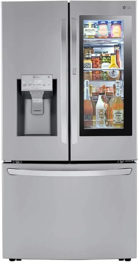 LG LRFVC2406S 24 Cu.Ft. Stainless Steel Smart Counter-Depth French Door Refrigerator