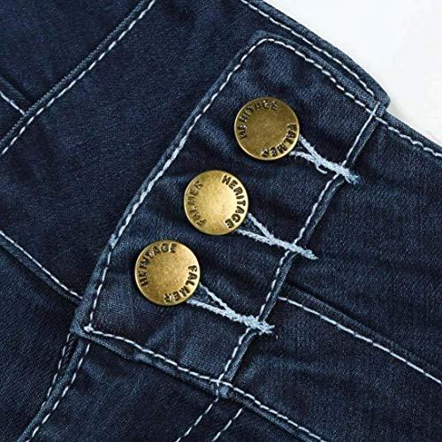 Scuro Stretch Vita Blu Matita Alta lannister A Pantaloni Ragazza Qk UwaxCzqS