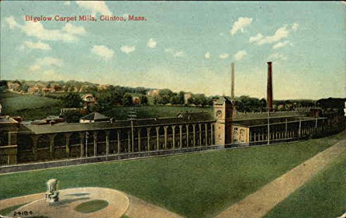 Bigelow Carpet Mills Clinton, Massachusetts Original Vintage Postcard ()