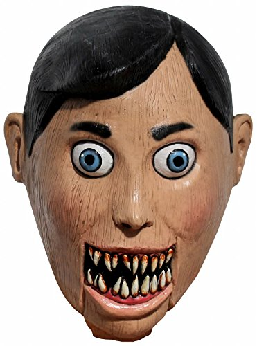 Ghoulish Productions Evil Puppet Adult Latex Mask Creepy Scary Wooden Marionette Halloween Accessory