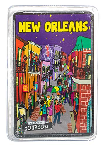 - Artisan Owl New Orleans Bourbon Street French Quarter Night Life Playing Cards