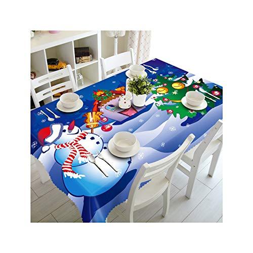 Da Tex Material - SunnyWarm Christmas Table Cloth Snowman Floral Beer Cover Thanksgiving Tablecloth De Navidad Home Party Decor,4,70X150Cm
