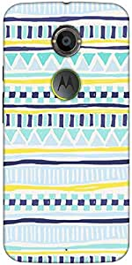 Snoogg Tribal Thorn Designer Protective Back Case Cover For Moto X2