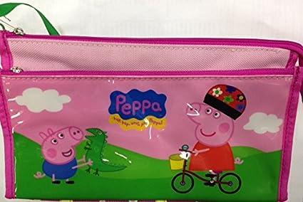 Estuche de 2 cremalleras de Peppa Pig: Amazon.es: Oficina y papelería