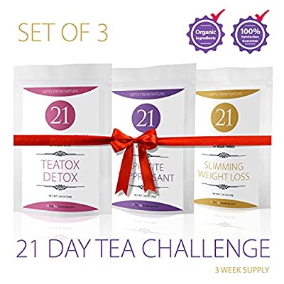 21 Day Tea Challenge Slimming Tea Helps You Lose Weight, Detox and Feel Healthy. Herbal Weight Loss Tea, Appetite Suppressant Fit Formula, Detox and Cleanse Your Body ...