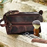 Leather Toiletry Bag for Men - Hygiene Organizer
