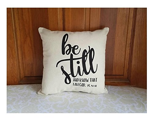 Be Still and Know that I am God Pillow Cover | Psalm 46 10 | Religious Gifts for Her | Scripture Gifts for Women | Birthday Gifts for Her | - Faux Mirror Door Barn