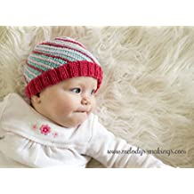 Bias Beanie Knitting Pattern - All Sizes Newborn, Baby, Child, and Adult Included