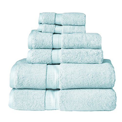 Blue Nile Mills 6-Piece Towel Set,100% Egyptian Cotton, 900 GSM, Sea Foam from Blue Nile Mills