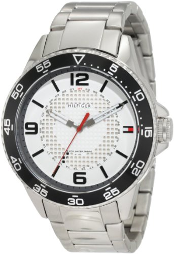 Tommy Hilfiger Men's 1790838 Sport Stainless Steel case and bracelet with white dial Watch