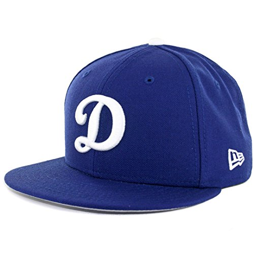 - New Era 59fifty Hat MLB Los Angeles Dodgers Dark Royal Blue D Logo Fitted Cap (7 1/2)