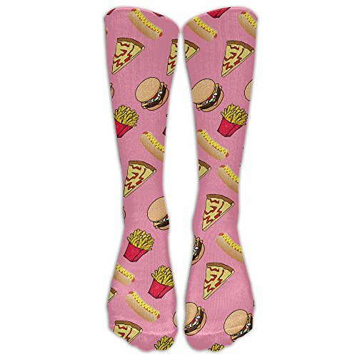 Pizza Burger Hotdog French Fries Comfort Cool Vent Crew Socks,One (Mummy Hotdogs)