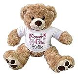 Flower Girl Personalized Teddy Bear - 13 inch Honey Vera Bear