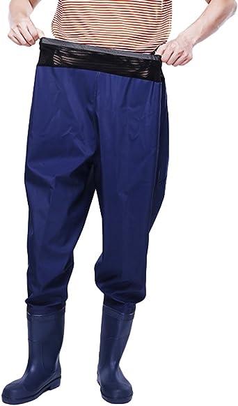 Xinwcang Pantalon De Pesca Para Hombre Impermeable Rain Pantalones De Moto Botas Antideslizante Waders Pesca Amazon Es Ropa Y Accesorios