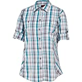 Wolverine Women's Sidney Roll-Sleeve Quick Dry Stretch Shirt, Calypso Plaid, Small