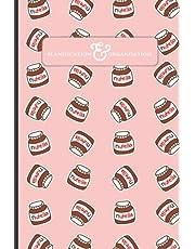 Planification & Organisation: Fan de Nutella avec un fond couleur rose vibrant - 6x9 - 100 pages lignées