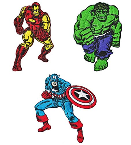 Marvel Avengers Ironman, and The Incredible Hulk Patch Gift Set -