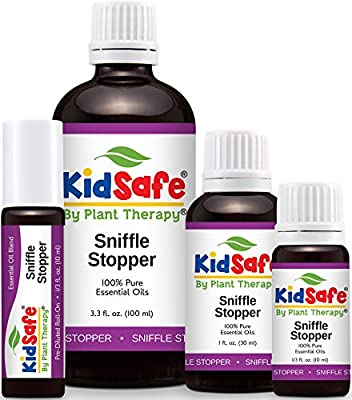 Plant Therapy KidSafe Sniffle Stopper Synergy Essential Oil 100% Pure, Undiluted, Therapeutic Grade