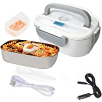 Nifogo Elektrische verwarming, lunchbox, draagbare voedselverwarmer, 3-in-1 huis/auto, afneembare roestvrijstalen…