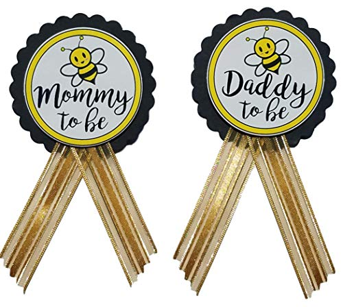 Mommy & Daddy to Bee Pins Baby Shower Yellow and Black pin wear at Baby Shower, Baby Sprinkle